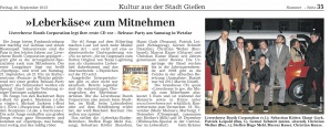 Ank?ndigung zur CD-Release-Party vom 20.9.2013